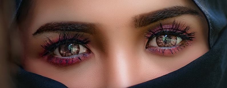 close up of two eyes