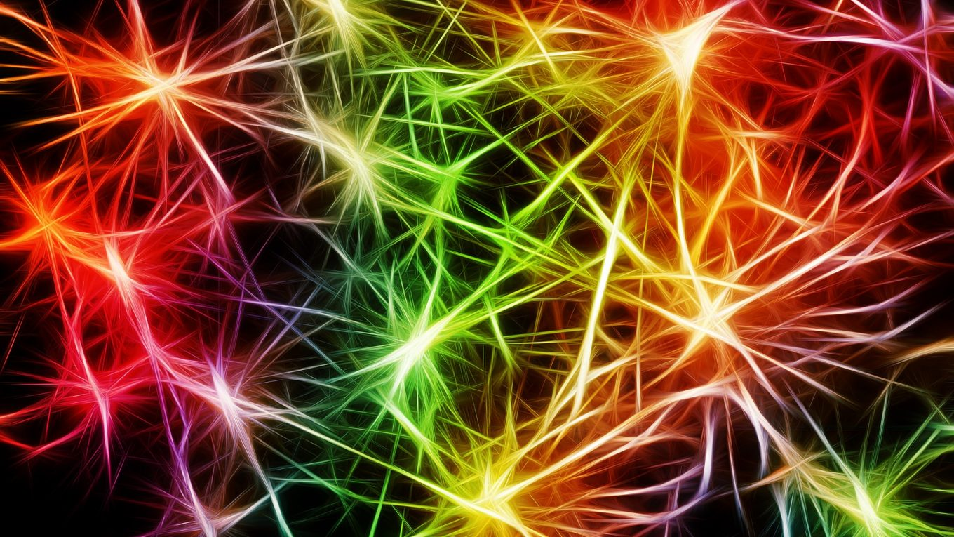 nerves looking like coloured lights