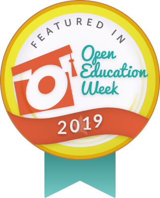 badge for open education week 2019